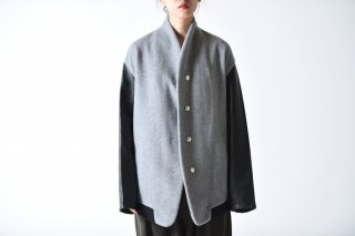 theSakaki Stadium Jumper gray/leather black