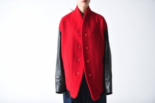 theSakaki Stadium Jumper red/leather black