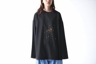 YANTOR Constellation embroidery Pullover / black