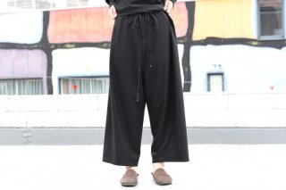BISHOOL wool gabardine straight wide pants