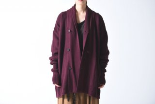 YANTOR Knit Cardigan dark wine