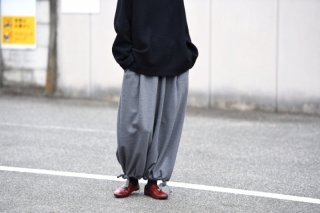 BISHOOL boiled wool Goto-Gi pants gray