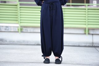 BISHOOL boiled wool Goto-Gi pants navy