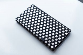 所作 LONG WALLET (black×silver dot)