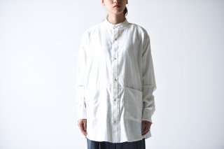 YANTOR Khadi Cotton Stand Shirt / white