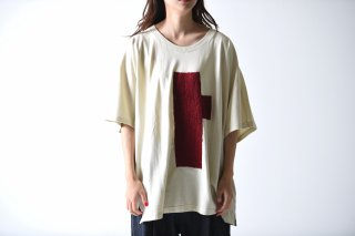 YANTOR Symbolic Embroidery cut saw / off white