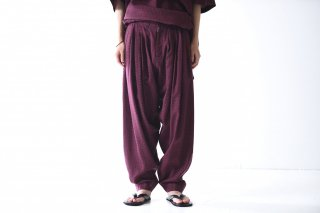 YANTOR Geometric 6tuck Pants wine red