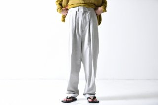 ESSAY WIDE TAPERED SLACKS light gray