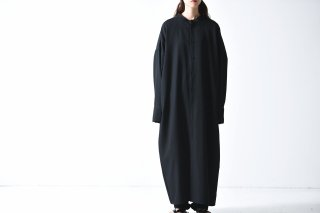 BISHOOL wool gabardine long shirt one piece