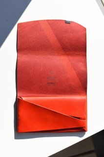 所作 LONG WALLET / round cut ( red )