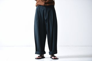 YANTOR Ratine Cotton 1:2 tuck pants green