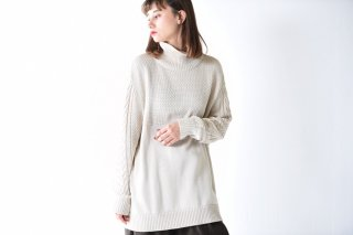 YANTOR Cotton Turtle Knit / off white
