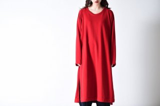 BISHOOL Slit Super Long Knit red