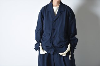 ESSAY WOOL GABARDINE SHIRT JACKET blue