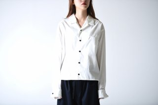 BISHOOL Cotton Broad Double Cuffs Short Shirts white