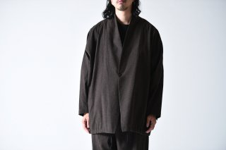 YANTOR Linen Cotton Fall Jacket brown/charcoal