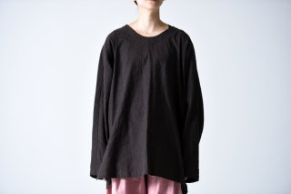 YANTOR Linen Cotton Long Pullover brown