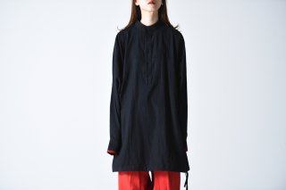 YANTOR Salvage Khadi Cotton Long Shirts black