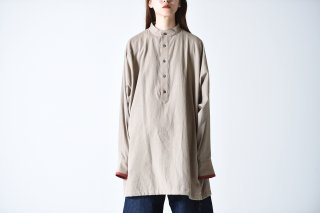 YANTOR Salvage Khadi Cotton Long Shirts beige