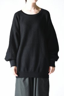 YANTOR Cotton Coarsely Dolman Big Knit black