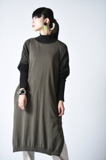 YANTOR High Gauge Cotton Knit One Piece khaki black