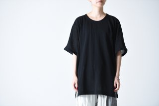 YANTOR High Gauge Cotton Knit Cut Sewn black