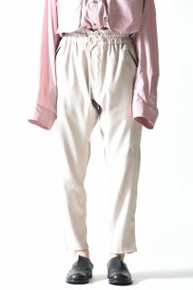 YANTOR  Suede Jarsey Pants white