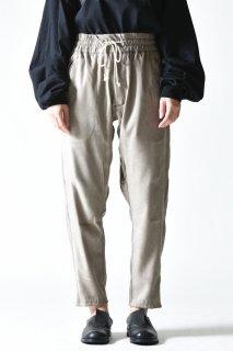 YANTOR  Suede Jarsey Pants gray