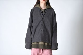 YANTOR Linen Cotton Skin Jacket charcoal