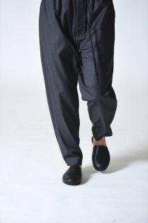BISHOOL Wool Stripe Zip Slacks