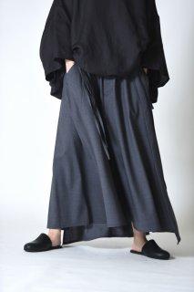 BISHOOL Tropical Wool Unisex 袴 Skirt smoke gray