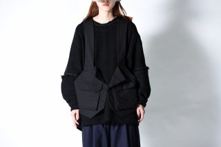 My Beautiful Landlet  Bafu Cottonバックパックベスト OVIE STUDIO limited  black
