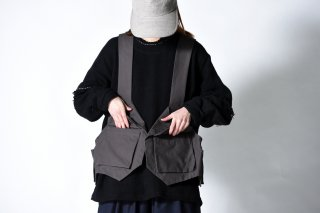 My Beautiful Landlet  Bafu Cottonバックパックベスト OVIE STUDIO limited charcoal