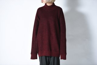 YANTOR 7G Wool Turtle Wide Knit red/navy