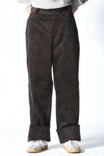 ATHA CORDUROY EASY TROUSERS  Brown