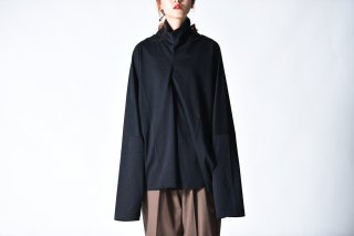 ATHA OVERSIZED KAFTEN HIGH NECK L/S SHIRTS Black