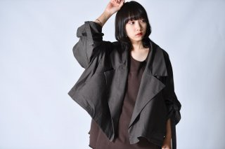 My Beautiful Landlet Bafu Cotton袖紐ワイドブルゾン OVIE STUDIO limited charcoal