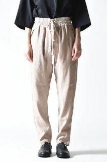 YANTOR  Suede Track Pants beige