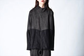 YANTOR  Suede Track Suit charcoal black