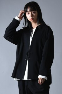 BISHOOL Wool Gabardine 01 Rapel Jacket / Black