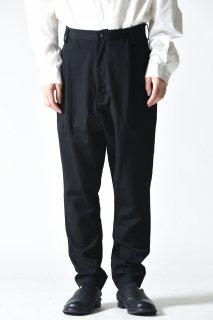 BISHOOL Wool Gabardine Slim Slacks / Black