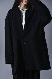 BISHOOL Wool Gabardine 01 Rapel Long Jacket Black