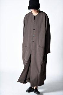 BISHOOL Wool Gabardine 01 Rapel Long Coat mocha