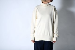 tac:tac THERMAL HIGH NECK KNIT PULLOVER off white