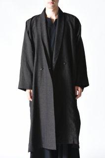 YANTOR Linenwool Slit Coat black