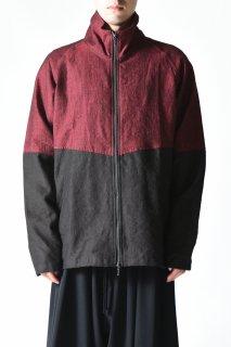 YANTOR Linenwool Track Jacket red × black