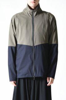 YANTOR Torowool Track Jacket olive gray × navy