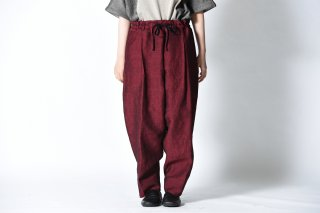 YANTOR Linenwool Himo Pants / red