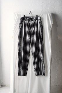 ATHA STRIPE STRAIGHT EASY TROUSERS / navy