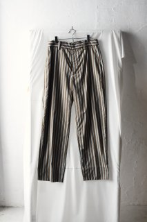 ATHA STRIPE STRAIGHT EASY TROUSERS green